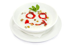 Sweet milk soup with rice Royalty Free Stock Photos
