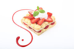 Sweet mille feuille Royalty Free Stock Photography