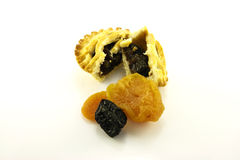 Sweet Mince Pie and Dried Fruit Stock Image
