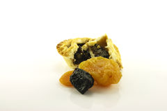 Sweet Mince Pie and Dried Fruit Royalty Free Stock Photos
