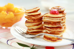 Sweet mini pancakes Royalty Free Stock Image