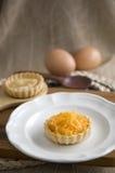 Sweet mini pie on dish Royalty Free Stock Photography