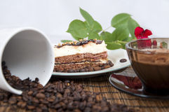 Sweet mood with coffee Royalty Free Stock Photography