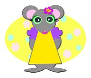 Sweet Mouse Girl Royalty Free Stock Photos