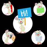 Sweet mouse mascot Royalty Free Stock Photo