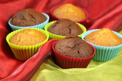 Sweet muffin cakes Royalty Free Stock Images