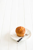 Sweet muffin on kitchen table Stock Images