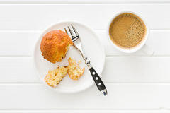 Sweet muffin on kitchen table Stock Photo