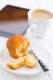 Sweet muffin on kitchen table Stock Photography