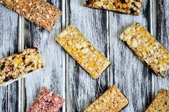 Sweet muffins bars. royalty free stock photography