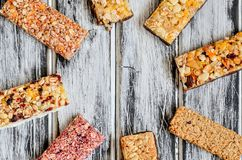 Sweet muffins bars. stock photos