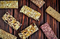 Sweet muffins bars. stock images