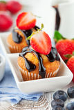 Sweet muffins with berries Stock Photography
