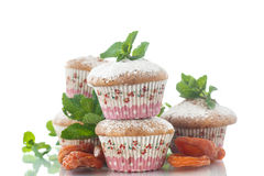 Sweet muffins with dried apricots Royalty Free Stock Photo