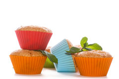 Sweet muffins stuffed with cherries Royalty Free Stock Image