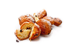 Sweet muffins on white Stock Photos
