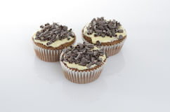 Sweet muffins on white background Royalty Free Stock Image