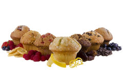 Sweet muffins on white background Royalty Free Stock Photography