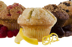Sweet muffins on white background Stock Image