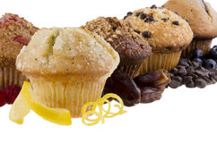 Sweet muffins on white background Stock Photos