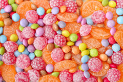 Sweet multicolor candies Stock Photos