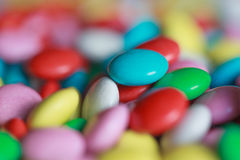 Sweet multicolor candy, selective focus Stock Photos