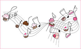 Sweet music. Vector illustration of sweet music notes Royalty Free Stock Photography