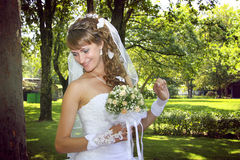 Sweet naughty bride stock images