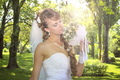 Sweet naughty bride Royalty Free Stock Photos