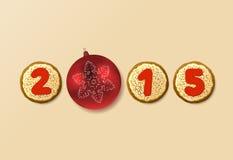 Sweet New Year 2015 Royalty Free Stock Photos