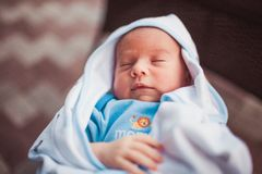 Sweet newborn baby Stock Photo