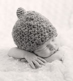 Sweet newborn baby sleeping Royalty Free Stock Images