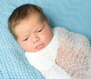Sweet newborn baby sleeping with open mouth Stock Photography