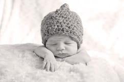 Sweet newborn baby sleeping Royalty Free Stock Photos