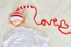 Sweet newborn baby Stock Image