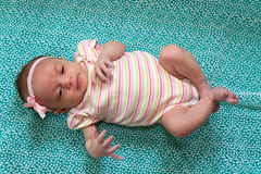 Sweet Newborn Girl Royalty Free Stock Photography