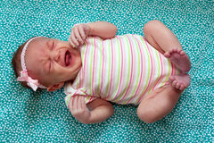 Sweet Newborn Girl Stock Images
