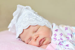 Sweet newborn's dreams Stock Photo