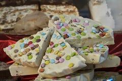 Sweet nougat at party Stock Photo
