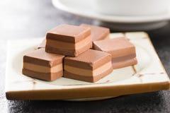 Sweet nougat pralines. Royalty Free Stock Photography
