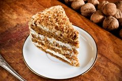 Sweet nut cake Royalty Free Stock Photos