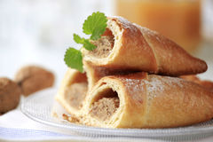 Sweet nut rolls Stock Photo