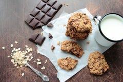 Sweet oat cookies Stock Image