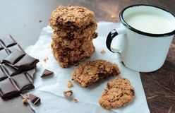 Sweet oat cookies Stock Photography