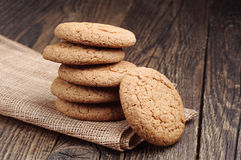 Sweet oat cookies Stock Image
