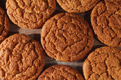 Sweet oatmeal. Cookies close-up Royalty Free Stock Images