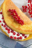 Sweet omelette with currant Royalty Free Stock Images