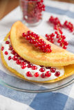 Sweet omelette with currant Royalty Free Stock Image