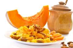 Sweet omelette with pieces of pumpkin Royalty Free Stock Photo