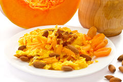 Sweet omelette with pieces of pumpkin Stock Photography